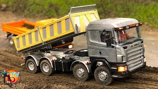 BRUDER RC TRUCK SCANIA CONSTRUCTION SITE Model Action