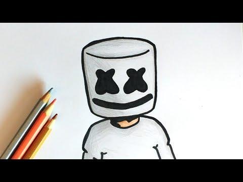 Como Desenhar O Marshmello Youtube