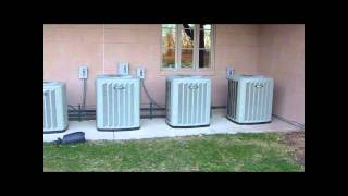 Trane Commercial air-conditioners, Carrier Chillers, and a Carrier packaged unit