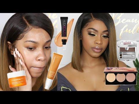 TRYING NEW MAKEUP! + STYLING MY BOB WIG Hair + Makeup Tutorial | Dana Alexia thumbnail