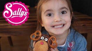 Rentiermuffins - Bananenmuffins mit Elch/Rentier Deko ;) Backen mit Kindern