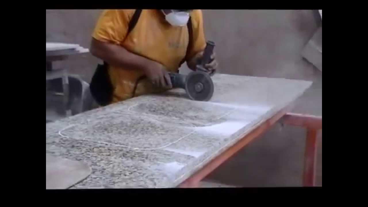 Undermount en tope de granito youtube - Como cortar marmol encimera ...