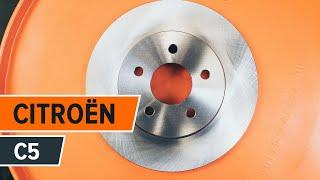 Cómo cambiar Disco de freno CITROËN C5 II Break (RE_) - vídeo gratis en línea