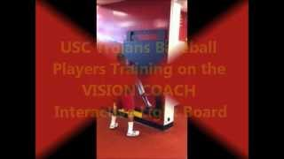 USC Baseball Players Training with the VISION COACH Interactive Light Board