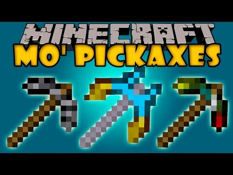 MO' PICKAXES MOD - Picos OP Y De Todos Los Materiales - Minecraft Mod 1.6.4, 1.7.2 Y 1.7.10 Review