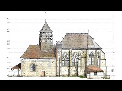 Laser Scanning - 2D Survey - 3D Model - Hampigny Church - France