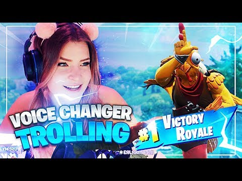 THEY CAUGHT ME TROLLING! (Voice Changer Trolling) Fortnite: Battle Royale