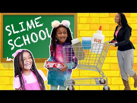 Slime School Field Trip ! Pretend Teacher FAIL  - New Toy School