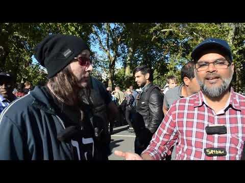 The truth! Br Hashim vs Visitor Speaker's corner Hyde park