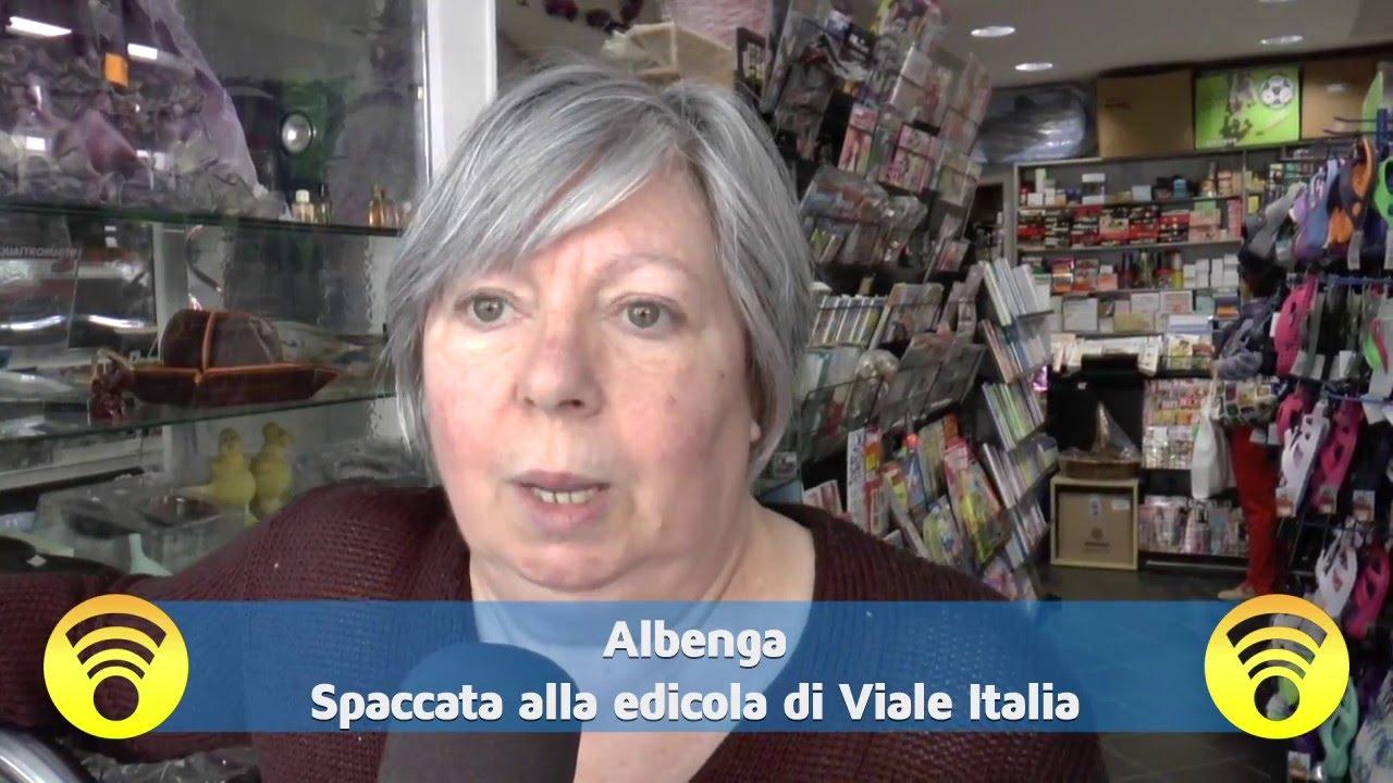 Regina Provasoli di Loano ci parla della spaccata alla sua edicola in Albenga: video #1