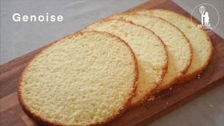 부드러운 제누아즈 쉽게 만들기, 케이크 시트 만들기 G…