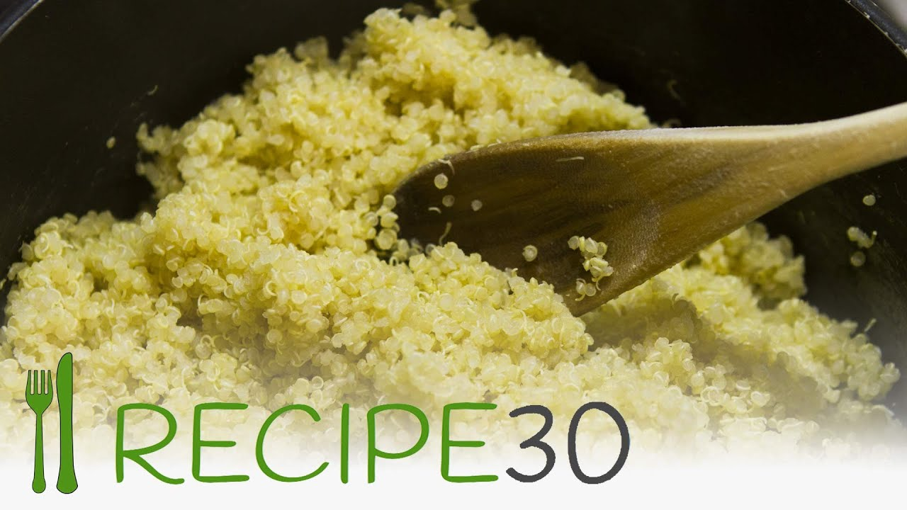 HOW TO COOK BASIC QUINOA gluten free recipe - by Recipe30 ...