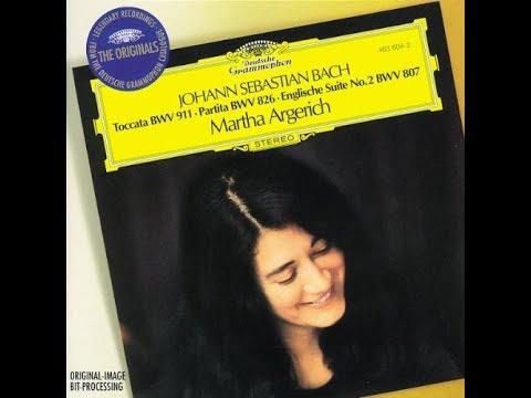 Johann Sebastian Bach, Englische Suite No. 2 a-moll BWV 807, Martha Argerich, 1979