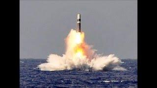 原潜 潜水艦発射弾道ミサイル(SLBM) トライデント発射映像