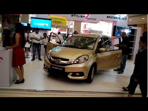 new car launches in july 2014 in indiaHONDA MOBILIO MPV CAR LAUNCH PROMOTION INTERIOR AND EXTERIOR VIEW