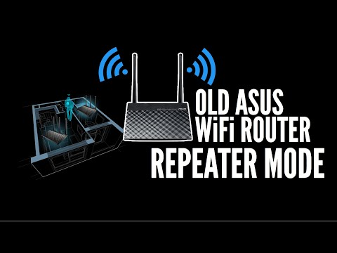 Old ASUS WiFi Router RT-N12+  Repeater Mode