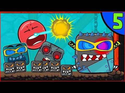 """Мультик Red Ball 4 """"НОВЫЙ ПОДЗЕМЕЛЬНЫЙ БОСС"""" Анимация Игра Красный Шар ОЗВУЧКА несносный шарик Спуди"""