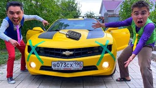 Mr. Joker on Opel Taped HEADLIGHTS of Sports Car VS Mr. Joe on Camaro 13+