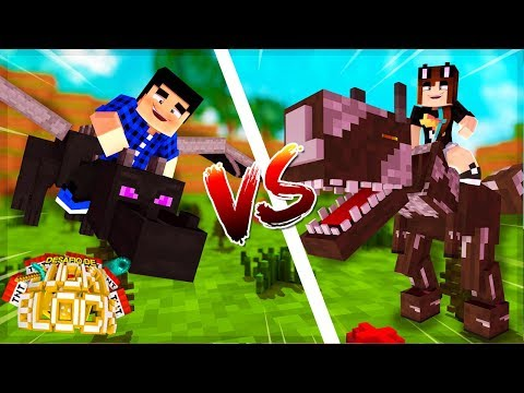 DRAGÃO vs DINOSSAURO! - Minecraft: Desafio de Lucky Block
