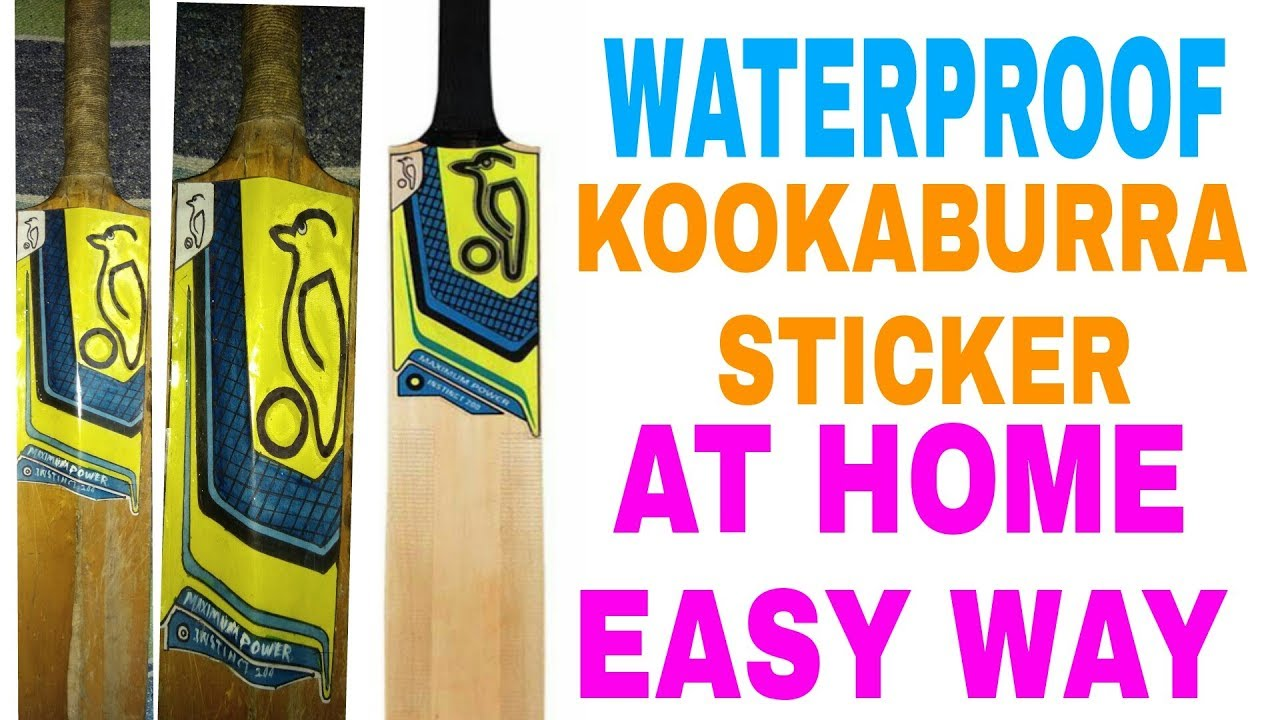 Waterproof kookaburra sticker at home easy way youtube