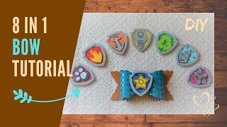 Paw Patrol 8 in 1 Bow tutorial   Super easy gift idea for picky girls   step by step DIY