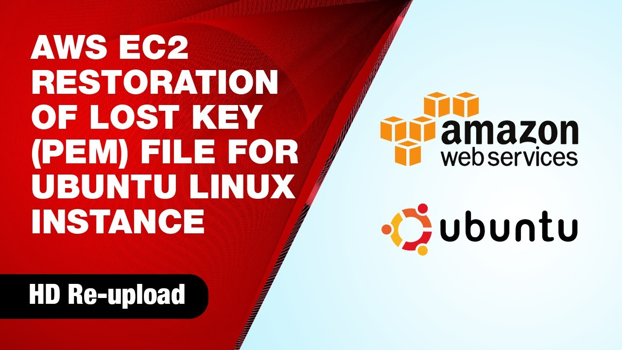 How to recover lost Key Pair (pem file) for Amazon AWS EC2 Ubuntu Linux  Instance (HD)