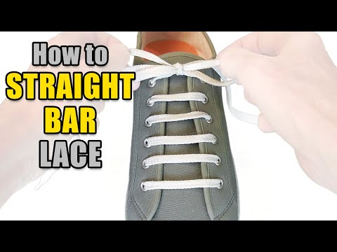 How to Straight Bar Lace your shoes - Professor Shoelace