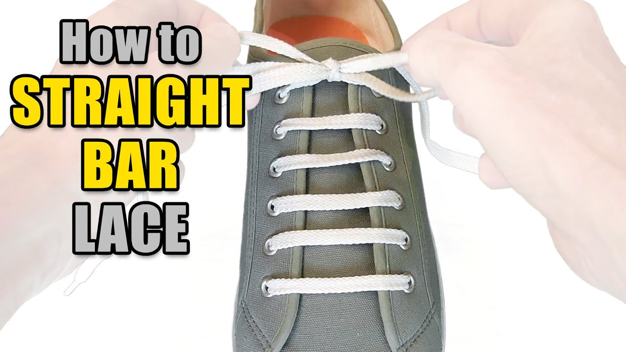 a33c0c811f9252 How to Straight Bar Lace your shoes - Professor Shoelace - YouTube