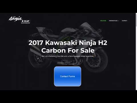 Client Web Site Video Portfolio – 2017 Kawasaki Ninja H2 Carbon Motorcycle Sale Page
