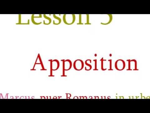 Lesson 05   Apposition