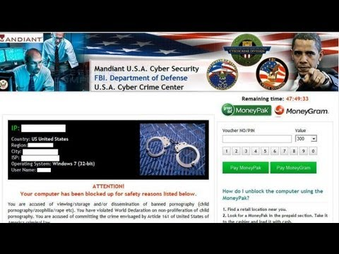 How to remove Mandiant U.S.A. Cyber Security/FBI. Department of Defense/U.S.A. Cyber Crime Center