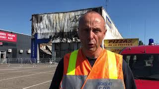 Incendie du Norauto de Marmande : le capitaine des pompiers Alain Larminier fait le point