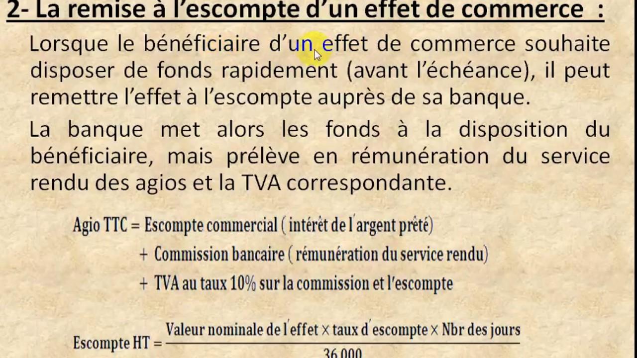 """comptabilité générale """" les effets de commerce partie 3 ..."""