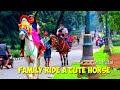 Kuda Delman tanpa kereta ~ Family ride a horse ~cavalinho a pilha~horse drawn carriage ~ Tunggang
