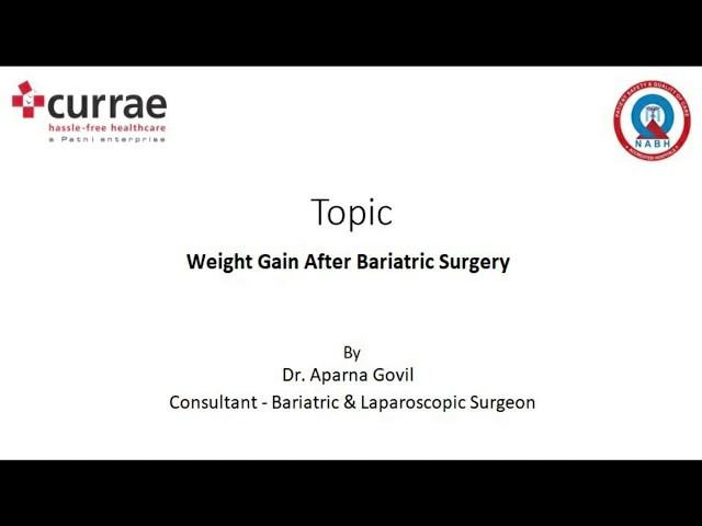 Weight Gain after Bariatric Surgery | Dr. Aparna Govil Bhasker | Currae Hospitals