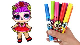 How to Draw LOL Doll Bebe Bonita | LOL Surprise Under Wraps Doll Drawing and Coloring for Kids