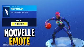 "NOUVELLE EMOTE ""Pro du Ballon"" (BALLER EMOTE) ! FORTNITE Battle Royale BOUTIQUE DU 02 JUIN"