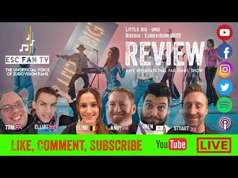 Little Big - Uno : EUROVISION REACTION   Russia ESC2020   LIVE Fan Panel Show