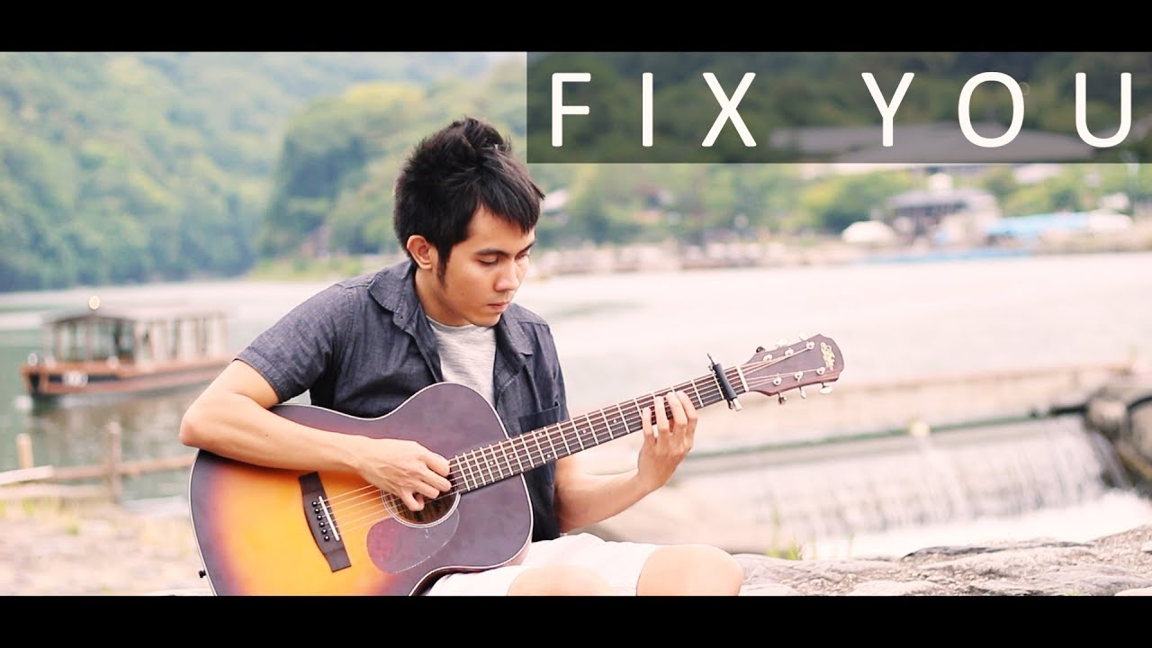 how to play fix you on guitar