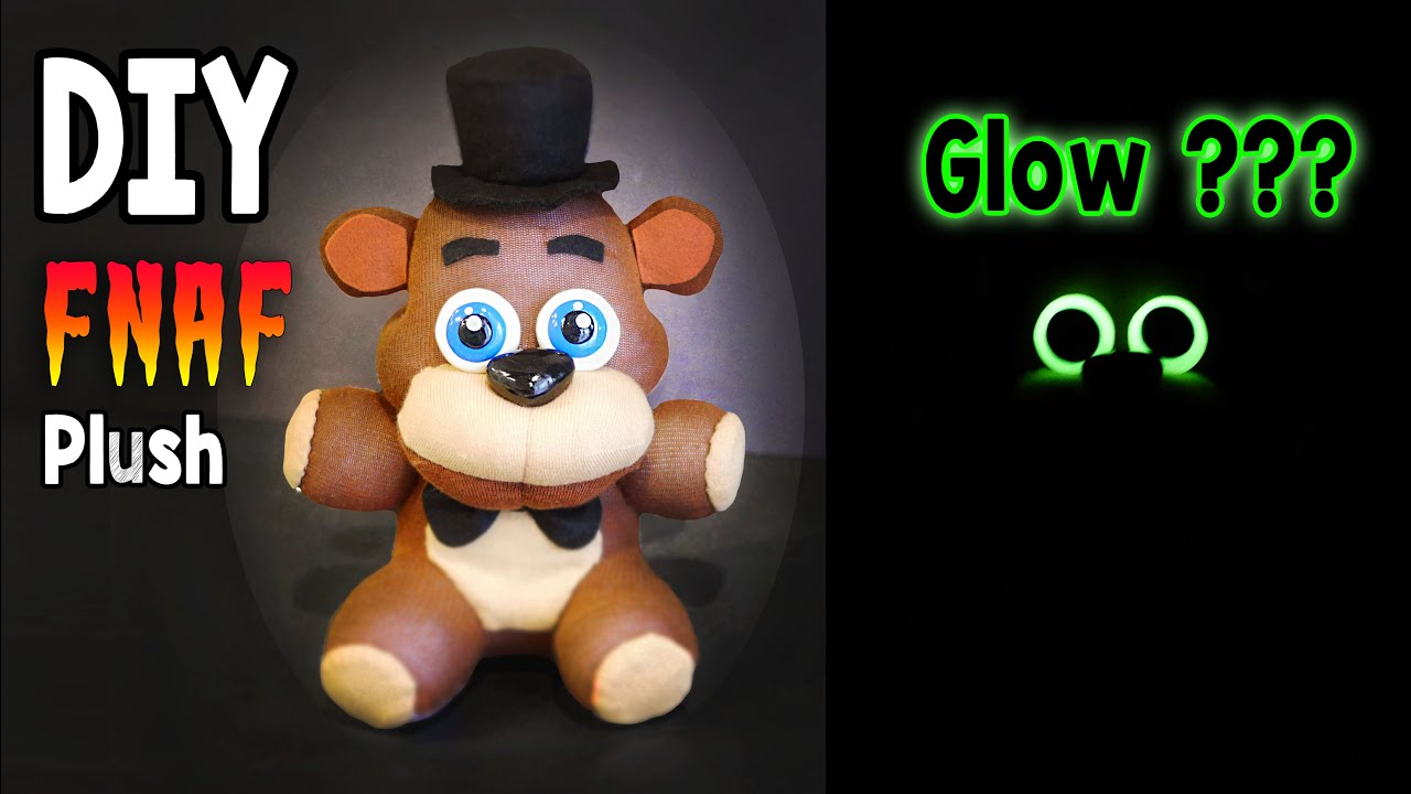 How to make your own five nights at freddys foxy plush - Diy Glow In The Dark Freddy Plush Fnaf Tutorial Collaboration With Artzierush Youtube