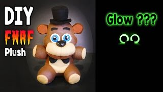 DIY Glow in the Dark Freddy Plush FNAF Tutorial | Collaboration with ArtzieRush