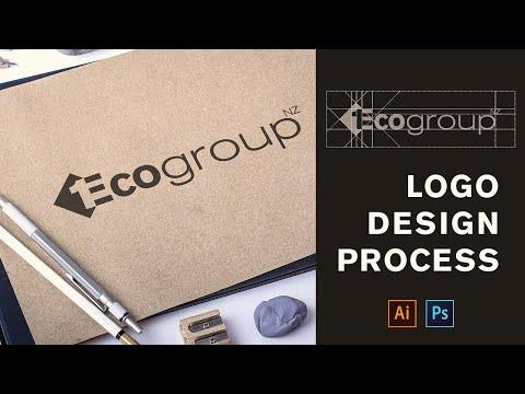 How To Design A Logo - 1Eco Group Logo Design | Adobe Illustrator Tutorial thumbnail