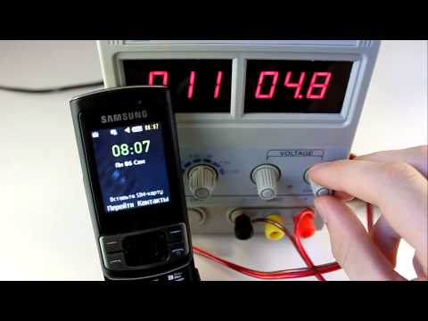 Samsung C3050. Тест на превышение напряжения зарядки