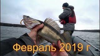 Джиг с лодки в феврале 2019. Рыбалка на судака