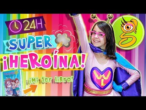 eterno asistente Circunferencia  24 HORAS siendo SUPER HEROÍNA - WONDER LARA - YouTube