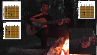 Как играть на гитаре  Обнуляй  Кравц   Пошаговый разбор аккордов