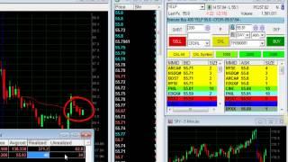 Day trading NASDAQ stocks -- $1,083 in 1 hour -- Meir Barak