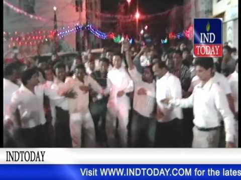Celebration at Mohammad Mahmood Ali Deputy Chief Minister of Telangana