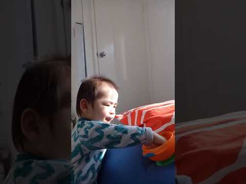 21 Nov 17 - One afternoon when Isaac was playing at ama's bedroom