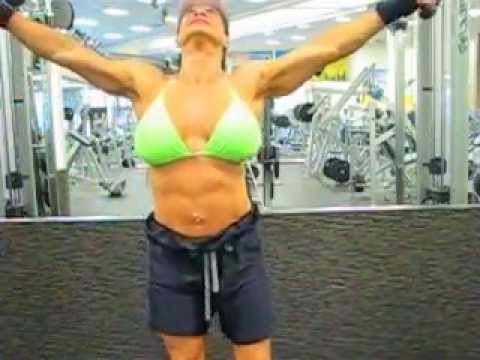"Sen Santiago  a.k.a. ""Spicy of Spicy""s Fitness Gym Work Out - Cable Pulls"